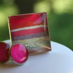 silk ring and earrings