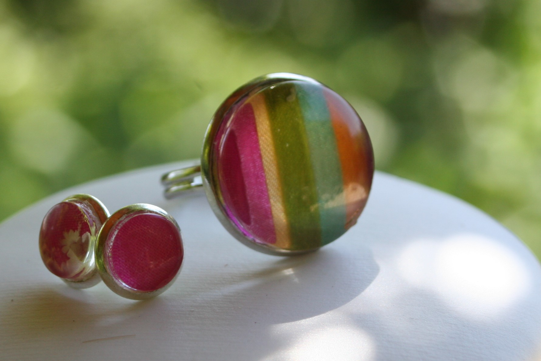 ring and earring - silk