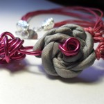 pure silk jewellery with wire