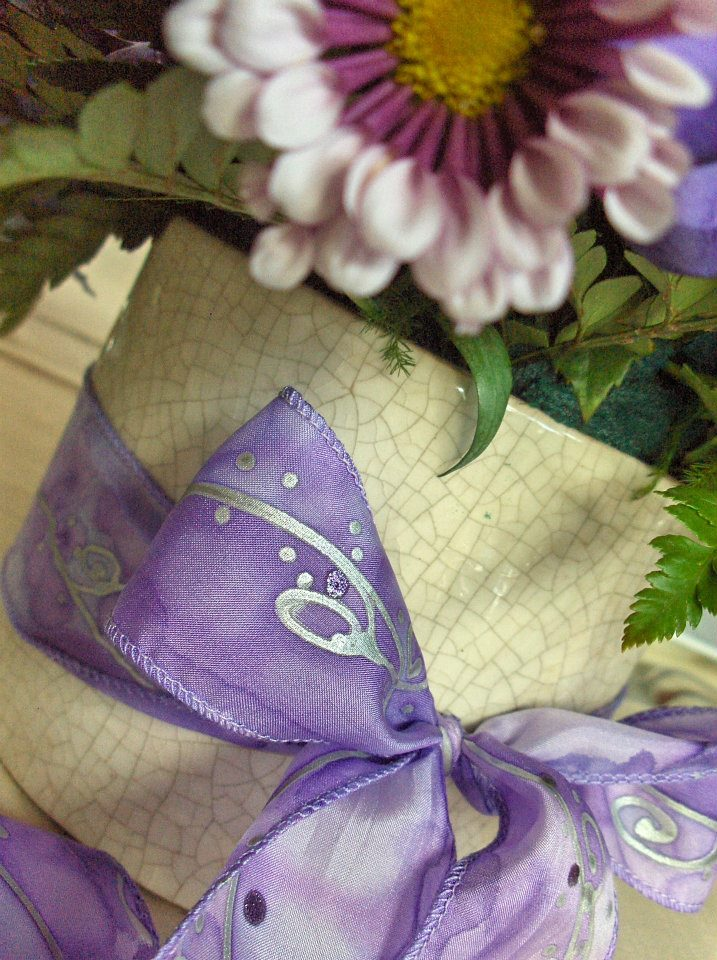 wedding decoration with hand dyed pure silk