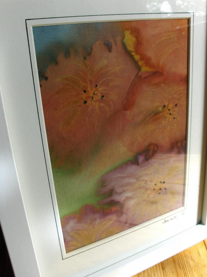 hand painted pure silk picture