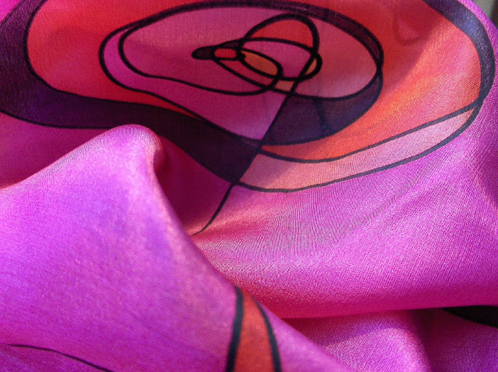 hand painted pure silk scarf